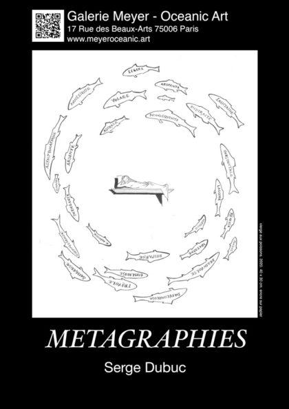 Affiche exposition Serge Dubuc Métagraphies